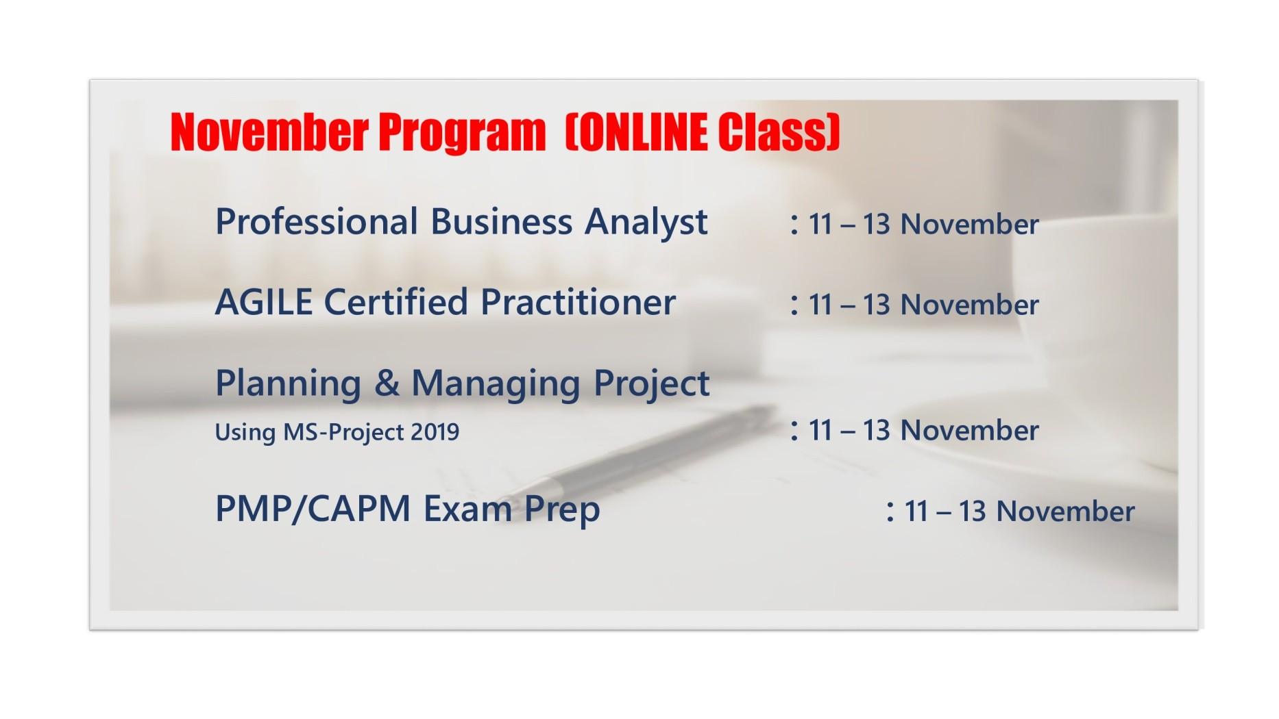 November Program
